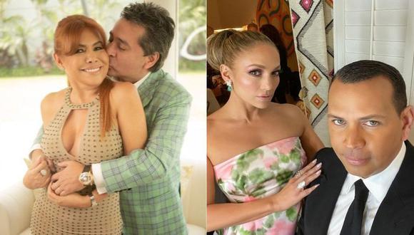 Magaly Medina compara el fin de su relación con Alfredo Zambrano con la de Jennifer López y Alex Rodríguez. (Foto: Composición/Instagram)