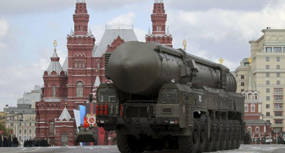 """""""Con el colapso del tratado INF, varias regiones podrían verse envueltas en la carrera armamentista"""", sostuvo el Ministerio de Relaciones Exteriores de Rusia. (Foto: EFE)"""