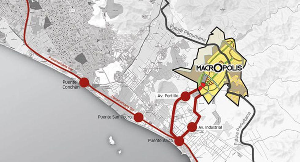 Mapa de Zona Industrial Lurín en Lima. (Foto: Captura)