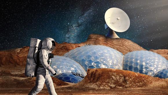 Representación artística de un astronauta en Marte. (Foto: Pixabay)