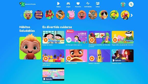 En la sección Hábitos Saludables hay videos que enseñan a los niños sobre el COVID-19. (Foto: Discovery Kids Plus)