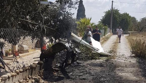Choque entre un helicóptero y una avioneta deja cinco muertos en Mallorca, España. (EFE).