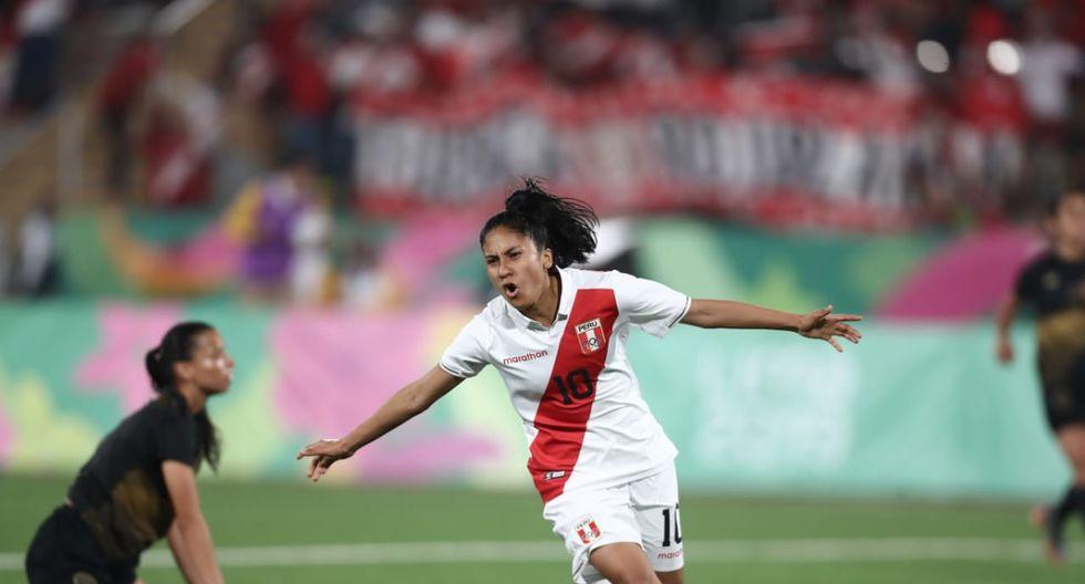 Lima 2019: Stefanni Otiniano celebrando su gol ante Costa Rica.(Foto: Giancarlo Ávila)