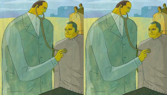"""""""Está ampliamente demostrado que garantizar una cartera de prestaciones en el primer nivel de atención mejora la salud"""", (Ilustración: Víctor Aguilar Rúa)"""