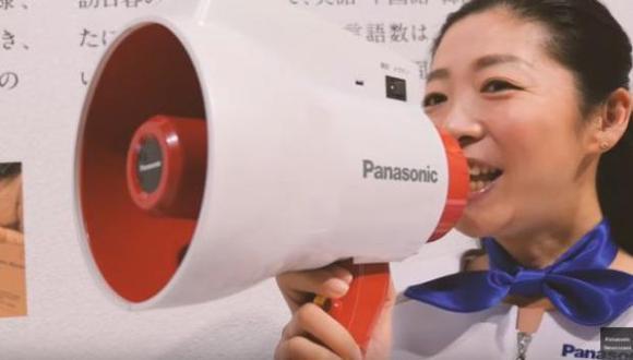 Megáfono traductor  de Panasonic (Foto: YouTube)