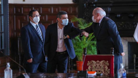 """Cateriano calificó de """"diálogos abiertos y democráticos"""" los que encuentros que tuvo hasta el momento con los partidos con representación en el Congreso. """"El que tuve con Fuerza Popular también"""", acotó. .(Foto: PCM)"""