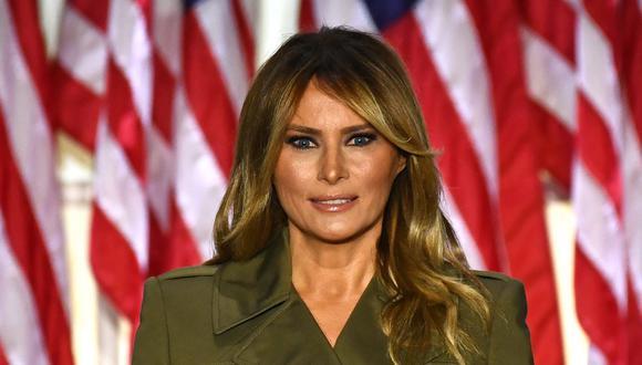 La primera dama de Estados Unidos, Melania Trump, dio positivo por el nuevo coronavirus durante la madrugada del viernes. (Brendan Smialowski / AFP).