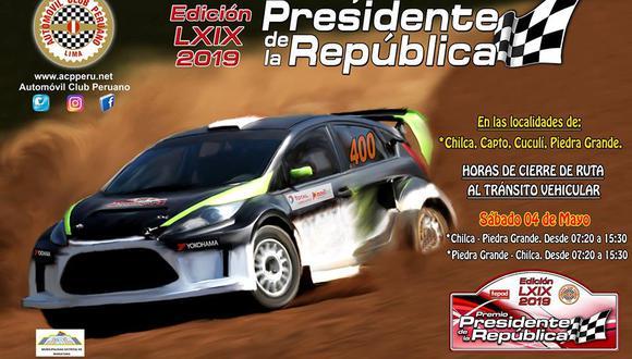 Entre el sábado 4 y domingo 5 de mayo en Chilca y Asia se correrá el Premio Presidente de la República, el torneo automovilístico más antiguo del país. (Foto: ACP)