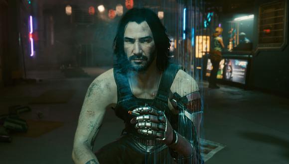 Johnny Silverhand en Cyberpunk 2077. (Captura de pantalla)