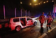 Miraflores: choque entre minivan y taxi en Costa Verde dejó una pasajera herida