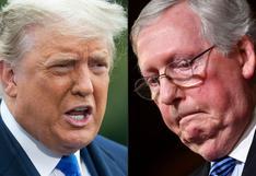 Donald Trump pide a republicanos a echar a Mitch McConnell como su líder en el Senado