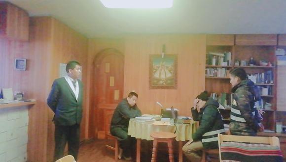 Así fue la intervención  por parte del Ministerio Público a viviendas y templo Cristo Rey. (Foto: Difusión)