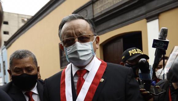 Edgar Alarcón solicita reprogramación de sesión de Subcomisión de Acusaciones Constitucionales. (Foto: Joel Alonzo/ @photo.gec)