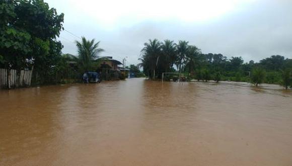Luego de varias horas de intensas lluvias, los ríos Iscozacinn y Palcazú aumentaron su caudal. (Foto: Andina / difusión)