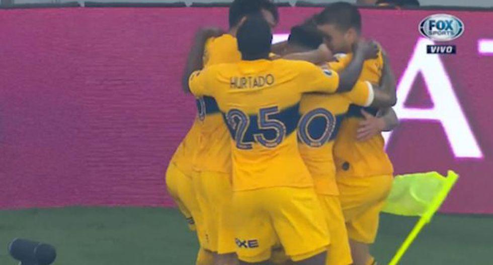 Boca Juniors vs. Paranaense: Alexis Mac Allister convirtió el 1-0 con un potente remate | Foto: Captura