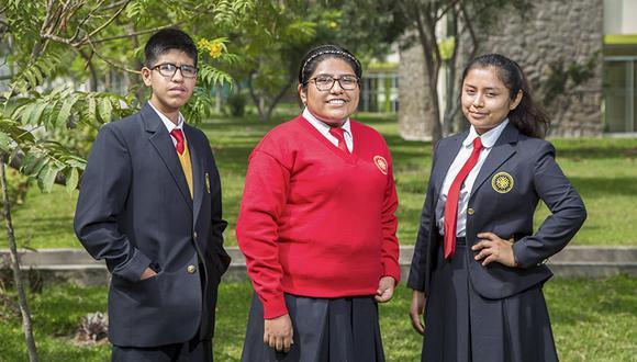 Rebeca Araujo, Junior Montalván y Milagros Cuno son tres jóvenes que miran con ilusión el futuro de Lima dentro de 15 años.