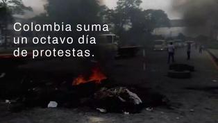 El rastro de las protestas y la violencia policial en Colombia