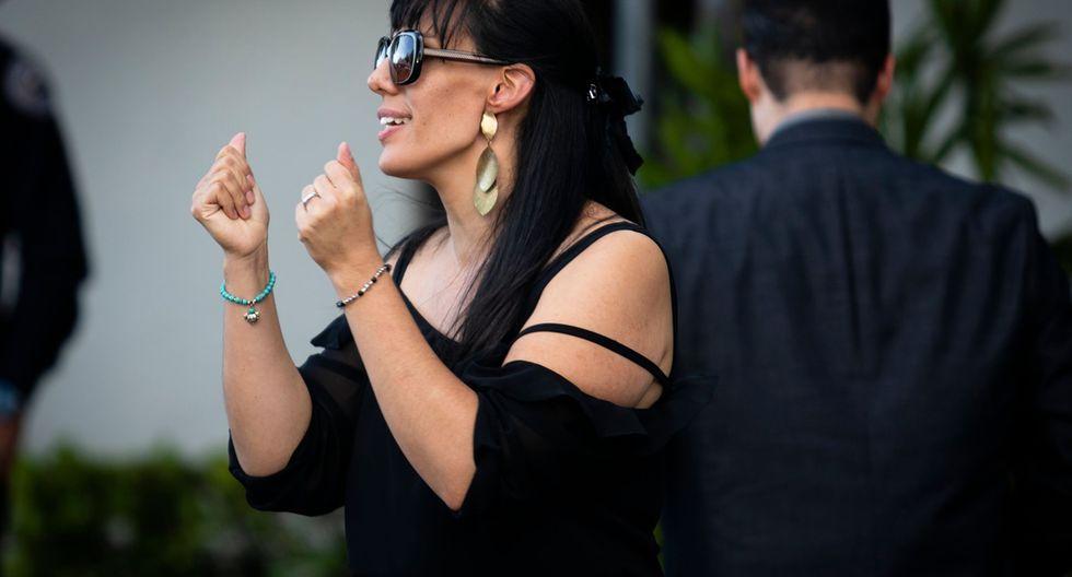 Marysol Sosa, hija de José José, en el velatorio de su padre en Miami. (Foto: Agencias)