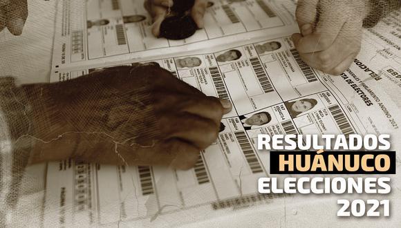 Resultados de las Elecciones 2021 en la región Huánuco según el conteo de la ONPE | Foto: Diseño El Comercio