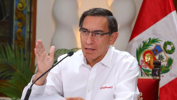 Vizcarra anunció un nuevo aumento de casos de coronavirus. (Foto: Presidencia)