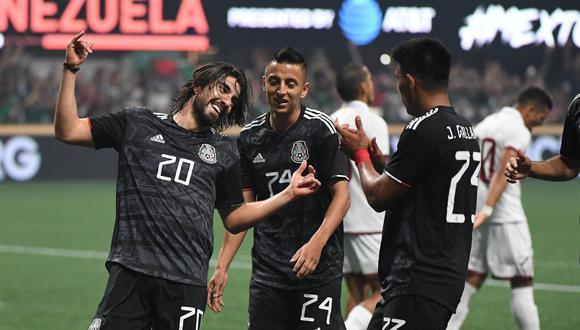México vs. Venezuela: Rodolfo Pizarro y el 2-1 tras un sutil toque dentro del área chica | Foto: Reuters