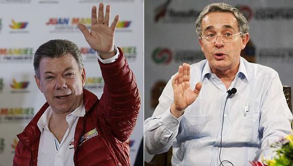 El inesperado intercambio en Twitter entre Uribe y Santos