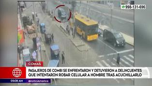 Comas: pasajeros de combi se enfrentaron a ladrón que intentó robar un celular