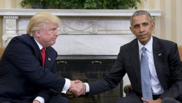 Barack Obama le traspasó su puesto a Donald Trump. (Getty Images).
