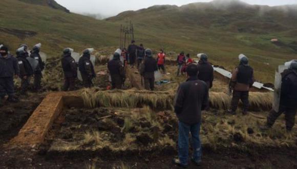 Cajamarca: policía brinda garantías a la familia Chaupe