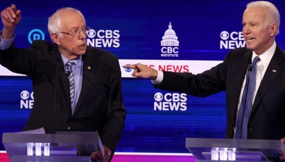 Bernie Sanders y Joe Biden se disputan la candidatura demócrata.  (Foto: Getty Images, vía BBC Mundo).