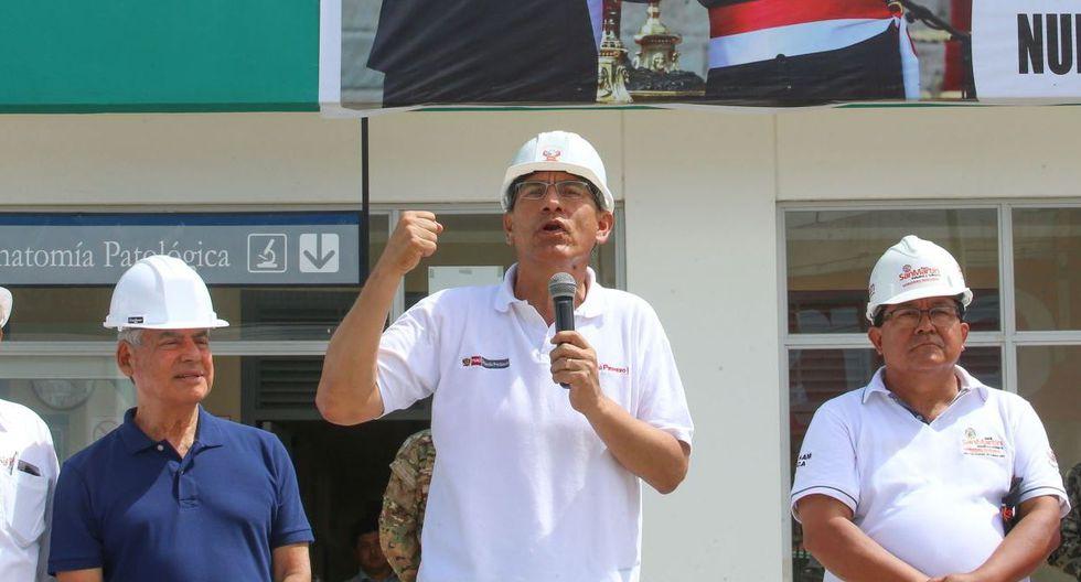 El presidente de la República, Martín Vizcarra, se pronunció desde Tarapoto para exigir la máxima pena contra el agresor de Eyvi Ágreda. (Andina / TV Perú)