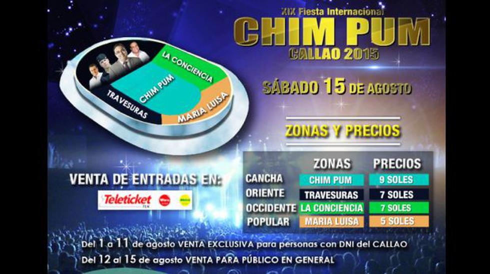 Chim Pum Callao 2015: conoce aquí el precio de las entradas - 1