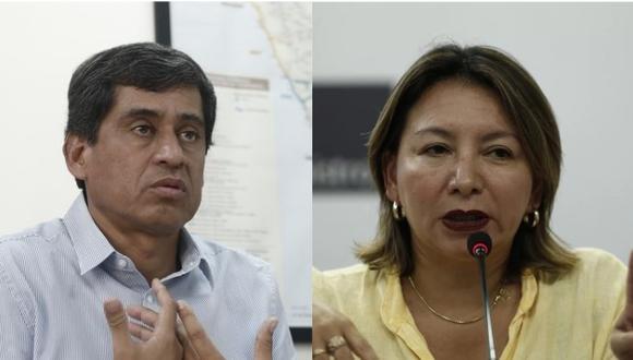 En la imagen, los ministros Carlos Lozada (Transportes y Comunicaciones) y Rocío Barrios (Producción). (Foto: GEC).