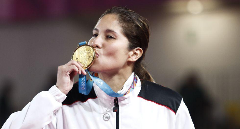 Alexandra Grande se convirtió en bicampeona panamericana en Karate. (Foto: Paul Vallejos / Lima 2019)