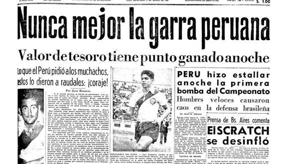 El Perú vs. Brasil de 1959: la historia del primer partido televisado en el país. FOTO: Archivo Histórico El Comercio.
