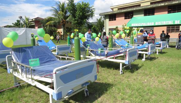 La Municipalidad Distrital de Kimbiri entregó diez camas clínicas equipadas e implementadas que serán donadas para el Hospital San Juan de Kimbiri, en la región Cusco. (Foto: Jorge Quispe Romero).