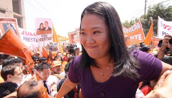 La lideresa de Fuerza Popular, Keiko Fujimori, encabeza el ranking de popularidad de los líderes políticos, seguida por Pedro Pablo Kuczynski. (Foto: El Comercio)