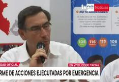 Tacna: presidente Vizcarra sostuvo que hay construcciones indebidas en 'Quebrada del diablo'