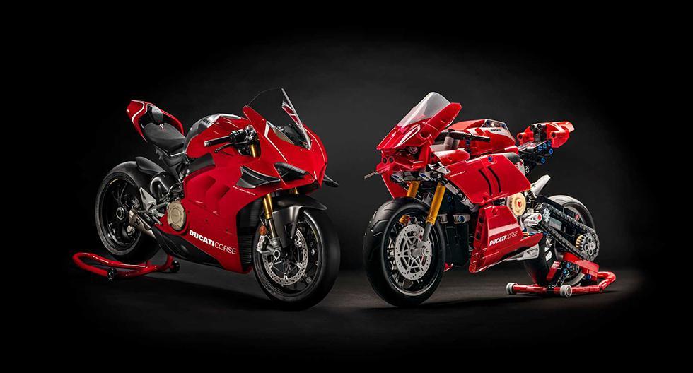 El kit armable del Ducati Panigale V4 R cuenta con 646 piezas y elementos que imitan cada detalle de la motocicleta. (Fotos: Lego).