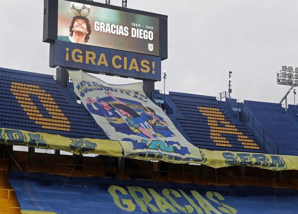 El homenaje de Boca Juniors tras el fallecimiento de Diego Maradona