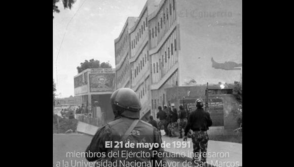 Hace 25 años el Ejército entró a San Marcos y La Cantuta
