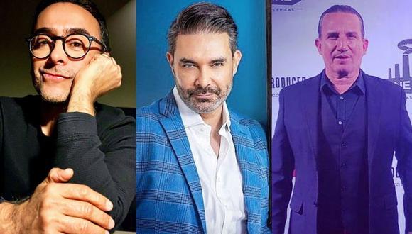 Adal Ramones, Mauricio Islas y Plutarco Haza estrenarán obra de teatro presencial en Lima. (Foto: Composición/Instagram)