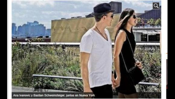 Schweinsteiger fue visto de la mano con tenista Ana Ivanovic