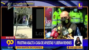 Policía frustró robo a casa de apuestas en San Martín de Porres