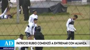 Patricio Rubio se sumó a los entrenamientos de Alianza Lima