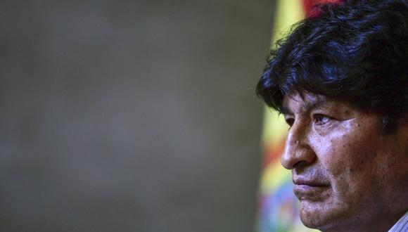 En esta imagen de archivo tomada el 27 de enero de 2020, el expresidente de Bolivia Evo Morales durante una conferencia de prensa. (Foto de Ronaldo SCHEMIDT / AFP).