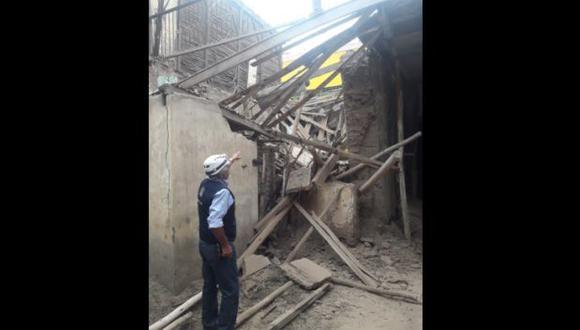 Trujillo: casona del Centro Histórico sufre daños tras sismo de esta mañana