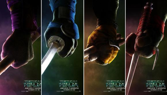 """""""Tortugas Ninja"""": mira los primeros pósters de la cinta"""