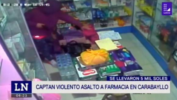Más de 5 mil soles fueron robados en tres minutos. (Foto: Captura/Latina)