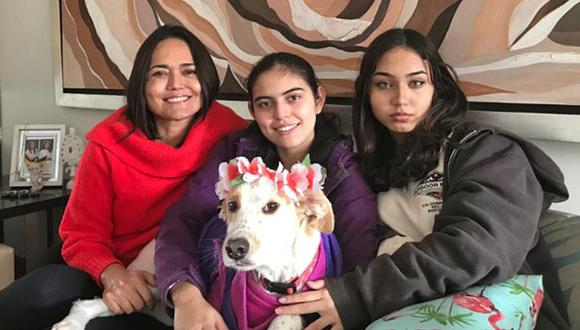 Para Silvia Castañeda, Luna es un miembro más de su familia. (Foto: Cortesía)